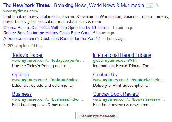 Enhanced Google SERP Result