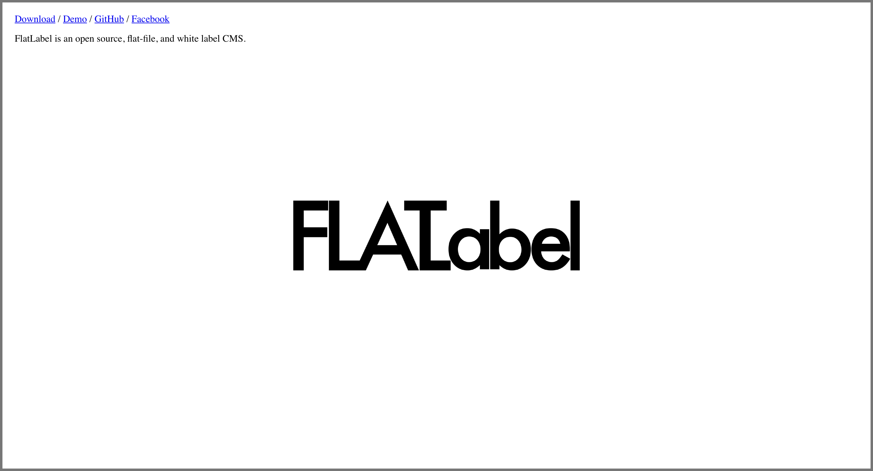 FlatLabel